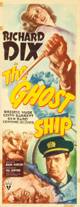 """Movie Posters:Horror, The Ghost Ship (RKO, 1943). Insert (14"""" X 36"""").. ..."""