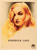 "Movie Posters:Miscellaneous, Veronica Lake Personality Poster (Paramount, 1944). French Affiche (23.5"" X 31.5""). Roger Soubie Artwork.. ..."