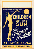 "Movie Posters:Exploitation, Children of the Sun (Public Welfare Pictures Corp., 1934). OneSheet (29"" X 41.25"").. ..."