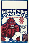 "Movie Posters:Exploitation, Love Life of a Gorilla (Jewel Productions, R-1940s). One Sheet (28"" X 41.25""). Reissue Title: Kidnapping Gorillas.. ..."