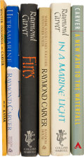 Books:Literature 1900-up, Raymond Carver. Group of Six Books of Poetry. [Various: 1970-1989].First editions, one inscribed by the author and one ... (Total: 6Items)