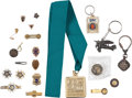 Books:Furniture & Accessories, [Mickey Spillane]. Group of Twenty-One Miscellaneous Pins,Insignias, Key Chains, and Medals. Circa 1940-2004....