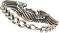 Books:Furniture & Accessories, [Mickey Spillane]. Sterling Silver WWII Army Air Force Pilot's WingBracelet....