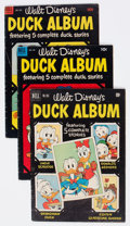 Golden Age (1938-1955):Funny Animal, Four Color Disney Duck Album Group of 9 (Dell, 1951-61) Condition:Average GD/VG.... (Total: 9 Comic Books)