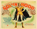 "Movie Posters:Swashbuckler, The Adventures of Robin Hood (Warner Brothers, 1938). Linen Finish Half Sheet (22"" X 28"") Style A.. ..."