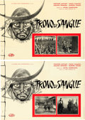"Movie Posters:Foreign, Throne of Blood (Globe Films, 1959). Italian Photobusta Set of 10(18.5"" X 26.5"").. ... (Total: 10 Items)"