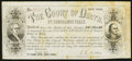 "Miscellaneous:Other, Receipt for a Colored Engraving of ""The Court of Death"" Painting byRembrandt Peale ND circa 1850s.. ..."