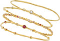 Estate Jewelry:Bracelets, Diamond, Ruby, Sapphire, Gold Bracelets, Ippolita. ... (Total: 4Items)