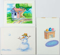 Animation Art:Production Drawing, Disney's Winnie the Pooh Storybook Original Painted Artwork(Walt Disney, c. 1990s)....