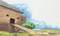 Animation Art:Production Drawing, Noah's Ark Storybook Painted Backgrounds Group of 2 (WaltDisney, c. 1990s)....