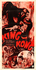 "Movie Posters:Horror, King Kong (RKO, R-1953). Three Sheet (41"" X 80"").. ..."