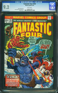 Fantastic Four #145 (Marvel, 1974) CGC NM- 9.2 White pages