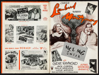 """Mr. & Mrs. Smith (RKO, 1941). Pressbook (Multiple Pages, 12"""" X 18""""). Hitchcock"""