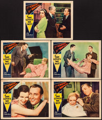 "She Loves Me Not (Paramount, 1934). Lobby Cards (5) (11"" X 14""). Comedy. ... (Total: 5 Items)"