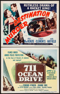 """Movie Posters:Film Noir, 711 Ocean Drive & Other Lot (Columbia, 1950). Title Lobby Cards (2) (11"""" X 14""""). Film Noir.. ... (Total: 2 Items)"""