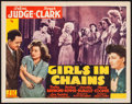 "Movie Posters:Crime, Girls in Chains (PRC, 1943). Title Lobby Card (11"" X 14""). Crime....."