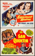 """Movie Posters:Film Noir, San Quentin & Other Lot (RKO, 1946). Title Lobby Cards (2) (11"""" X 14""""). Film Noir.. ... (Total: 2 Items)"""