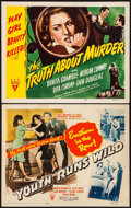 """Movie Posters:Exploitation, Youth Runs Wild & Other Lot (RKO, 1944). Title Lobby Cards (2) (11"""" X 14""""). Exploitation.. ... (Total: 2 Items)"""