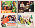 "Movie Posters:Crime, A Dangerous Profession & Other Lot (RKO, 1949). Title LobbyCards (2) & Lobby Cards (2) (11"" X 14""). Crime.. ... (Total: 4Items)"