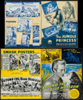 "Movie Posters:Adventure, The Jungle Princess & Other Lot (Paramount, 1936). UncutPressbooks (2) (Multiple Pages, 11"" X 14"" & 12.25"" X 15"").Adventur... (Total: 2 Items)"