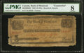Canadian Currency: , Montreal, Canada East- Bank of Montreal Brantford Issue Counterfeit$5/25 Shillings Apr. 5, 1852 Ch. 505-26-08-08C.. ...