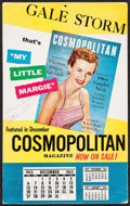 """Movie Posters:Miscellaneous, Gale Storm (Cosmopolitan Magazine, 1953). Autographed CalendarStandee (11.25"""" X 18""""). Miscellaneous.. ..."""