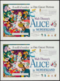 """Movie Posters:Animation, Alice in Wonderland (RKO, 1951). Mini Posters (2) Identical (14.5"""" X 21.5"""") Advance. Animation.. ... (Total: 2 Items)"""