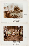 "Movie Posters:War, A Yank in the R.A.F. (20th Century Fox, 1941). Color Glos LobbyCards (2) (11"" X 14""). War.. ... (Total: 2 Items)"