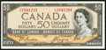 Canadian Currency: , BC-34b $50 1954 Devil's Face.. ...