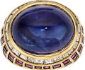 Estate Jewelry:Rings, Sapphire, Diamond, Ruby, Gold Ring. ...