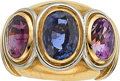 Estate Jewelry:Rings, Sapphire, Gold Ring, Boucheron, French. ...