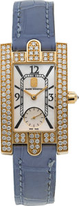 Estate Jewelry:Watches, Harry Winston Lady's Diamond, Gold Avenue Watch. ...
