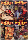 Pulps:Horror, Dime Mystery Magazine Group of 9 (Popular, 1934-40) Condition:Average GD.... (Total: 9 Items)