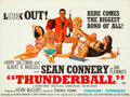 "Movie Posters:James Bond, Thunderball (United Artists, 1965). British Quad (30"" X 40"") RobertMcGinnis Artwork.. ..."