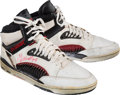 """Basketball Collectibles:Others, 1990's Hakeem (Signed """"Akeem"""") Olajuwon Game Worn, Signed Sneakers. ..."""