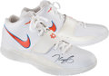Basketball Collectibles:Others, 2010-11 Kevin Durant Game Worn, Signed Oklahoma City ThunderSneakers. ...