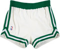 Basketball Collectibles:Others, Circa 1988 Boston Celtics Game Worn Shorts Attributed to Larry Bird. ...