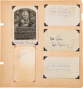 Autographs:Others, 1950's Baseball Autograph Collection with Multiple Hall of Famers....