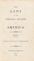 Books:Americana & American History, [Thomas Jefferson]. United States Congress. The Laws of theUnited States of America. Volume VI[-VII]. Washington Ci...