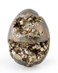 "Lapidary Art:Eggs and Spheres, Pyrite ""Egg"". Peru. 2.46 x 1.71 x 1.77 inches (6.24 x 4.35 x4.50 cm). ..."