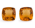 Gems:Faceted, Gemstone: Citrine Pair - 58.76 TCW. Brazil. 21 x 19.8 x 10.9 mmand 19.9 x 19.9 x 11.9 mm. ... (Total: 2 Items)