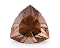 Gems:Faceted, Gemstone: Smoky Quartz - 25.14 Cts.. Brazil. 20.8 x 20.5 x 14.2mm. ...