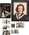 Books:Furniture & Accessories, [Mickey Spillane]. Photograph of Spillane's Inspiration for MikeHammer's Secretary Velda. [and:] First Edition of I, th...(Total: 2 Items)