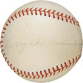 Baseball Collectibles:Balls, 1960's President Dwight D. Eisenhower Single Signed Baseball withPhoto of Signing....