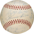 Baseball Collectibles:Balls, 1938 Boston Red Sox Team Signed Baseball, PSA/DNA NM 7. ...