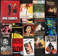Mickey Spillane. Group of Twenty-Seven Books. [New York and elsewhere: 1953-2013]. Six large print editions, twenty p