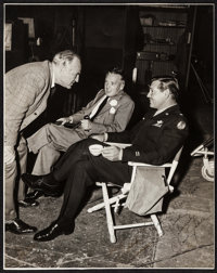 "Clark Gable, Sam Woods, & Bill Grady in Command Decision (MGM, 1948). Autographed Trimmed Photo (15.5"" X 19.5&q..."