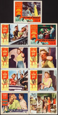 """Movie Posters:Film Noir, Female Jungle & Others Lot (American Releasing Corp., 1956). Lobby Cards (9) (11"""" X 14""""). Film Noir.. ... (Total: 9 Items)"""