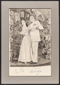 """Movie Posters:Musical, Mary Martin and Ezio Pinza in South Pacific by D.A. Ahrens (1949). Autographed Artwork (11"""" X 18"""" in 15"""" X 22"""" Matte). Music..."""