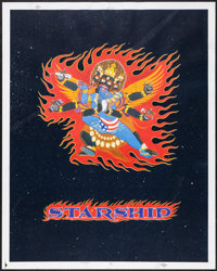 """Jefferson Starship Greatest Hits by Stanley Mouse (RCA, 1991). Screen Print Poster (23"""" X 29""""). Rock and Roll..."""